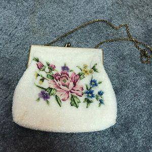 Beaded tapestry dress bag